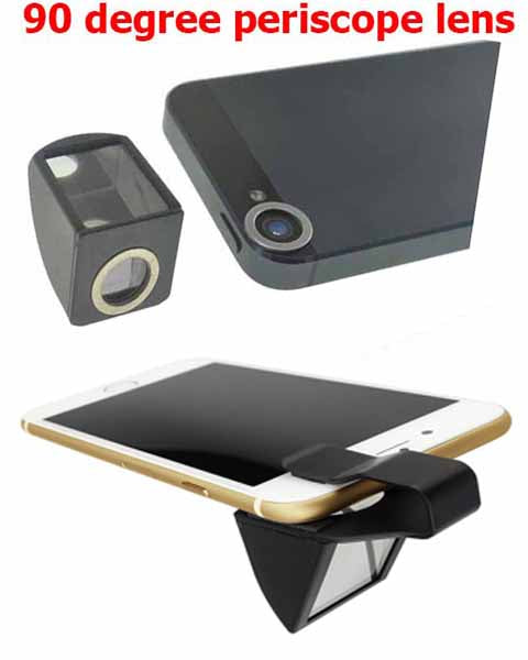 Universal 90 degree periscope spy camera lens for iphone 4 5/5S
