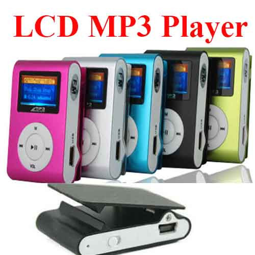 [ 1pcs  Free 8GB ]  GB TF CArd with LCD Clip MP3 Player