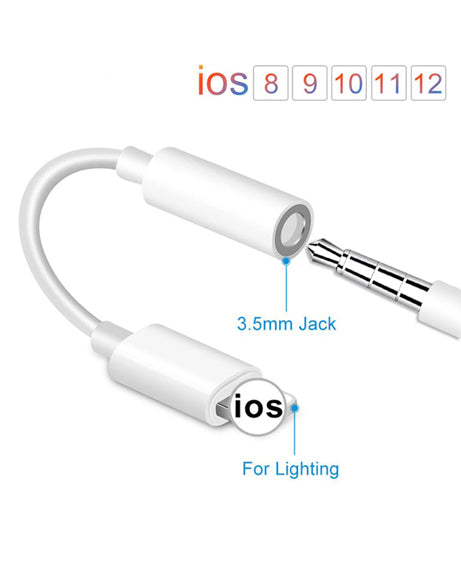 Lightning to 3.5mm Jack Headphones Adapter iOS For Lighting Plug Play Music Audio Earphone USB Cable For iPhone XS Max XS 7 8 Plus Converter Adapter