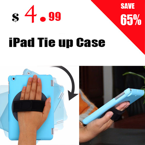 360 Rotating Handheld Rotary Holder Case Cover with Hand strap