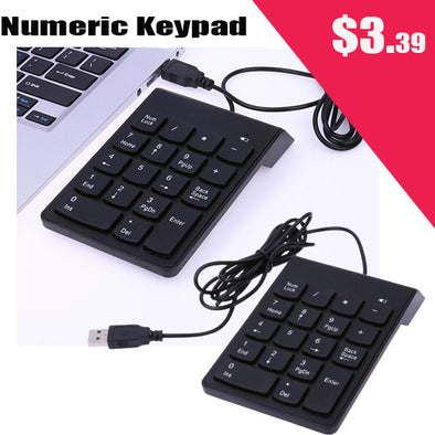 Mini 18-keys Num Pad Numeric Number Keypad