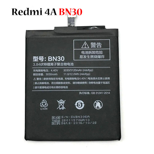 Battery for Redmi 4A BN30