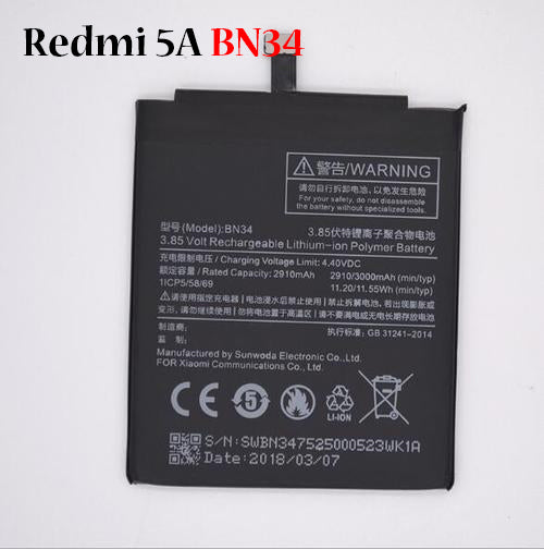 Battery for Redmi 5A BN34