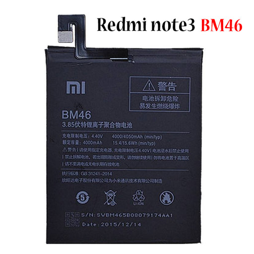 Battery for Redmi note3 BM46