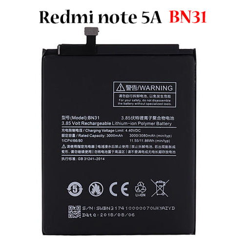 Battery for Redmi note 5a BN31