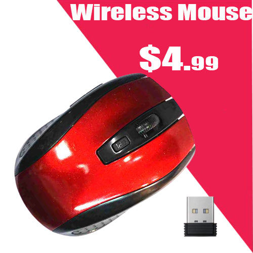 2.4Ghz Mini Wireless Optical  Mouse & USB Receiver for PC Laptop