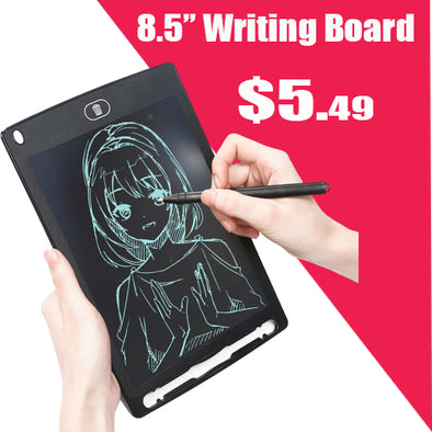 8.5'' Inch Kids LCD Writing Drawing Tablet Pad E-Writer Notepad  Board