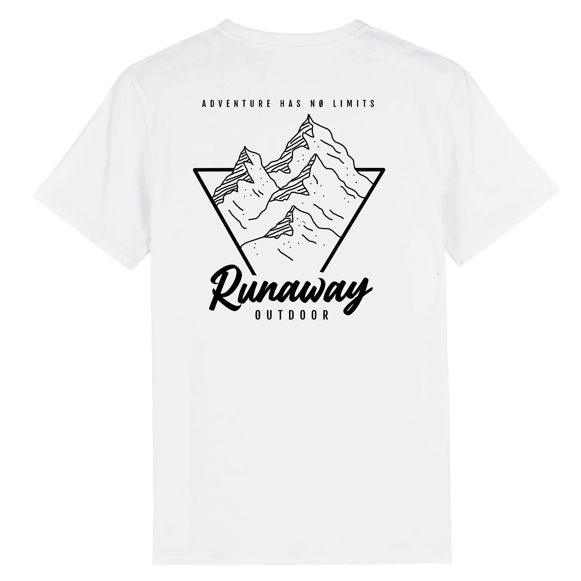 T-shirt blanc Runaway Adventure Has No Limits