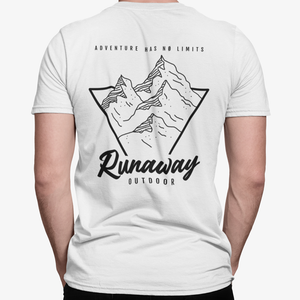 T-shirt Runaway Adventure Has No Limits Blanc