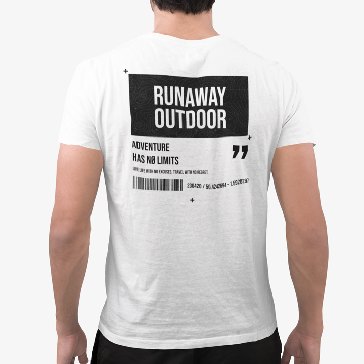T-shirt Runaway No Limits Blanc