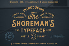 Load image into Gallery viewer, The Shoreman's Typeface