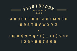 Flintstock - Industrial Display Font
