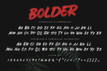 Load image into Gallery viewer, BOLDER - Smallcaps SVG Brush Font