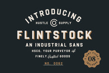 Load image into Gallery viewer, Flintstock - Industrial Display Font