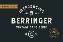 Load image into Gallery viewer, Berringer - Vintage Type Family