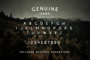 Genuine Script - Textured Type Duo