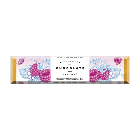 Raspberry Milk Chocolate Bar [25g] [Organic]