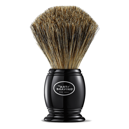 BLACK PURE SHAVING BRUSH - Oak Hall