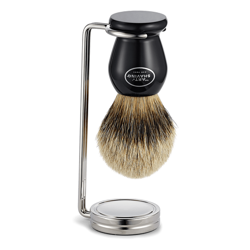 Compact Shaving Brush Stand - Oak Hall