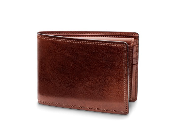 Bifold Wallet With I.D. Passcase Dolce Leather - Oak Hall