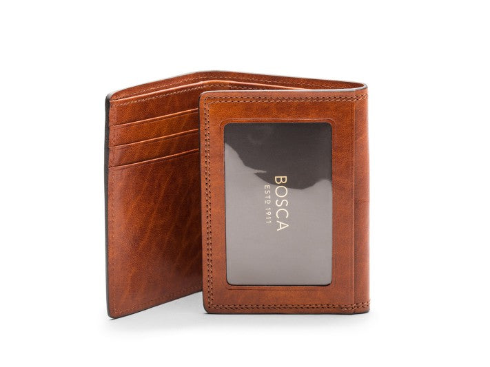 Double I.D. Trifold Wallet Dolce Leather - Oak Hall, Inc.
