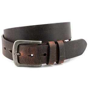 Distressed Waxed Harness Leather Belt - Oak Hall, Inc.