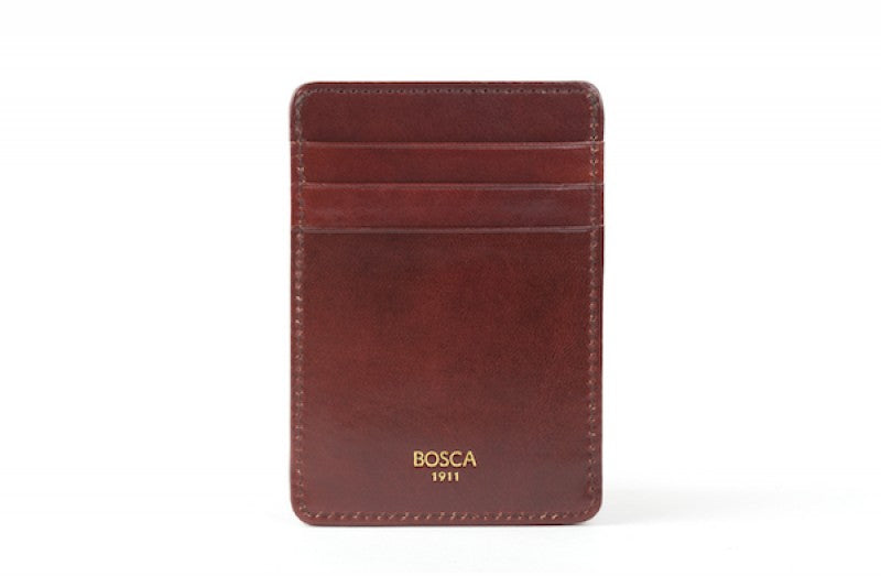 Front Pocket Wallet With Magnetic Money Clip Old Leather - Oak Hall