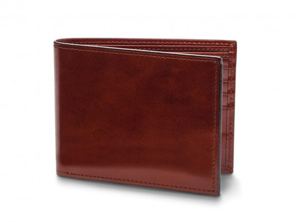 Bifold Wallet With Card / I.D. Flap Old Leather - Oak Hall