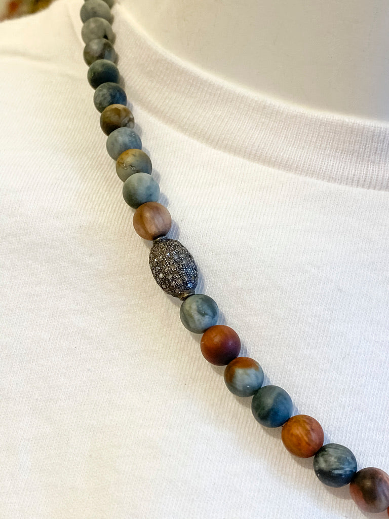Hawk's Eye Beaded Necklace - Oak Hall, Inc.