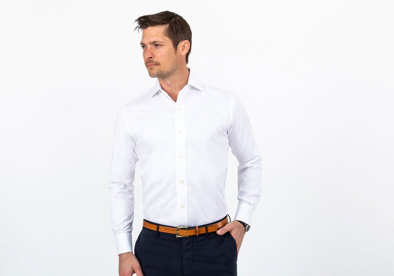 The White Fine Twill - Classic Fit - Oak Hall