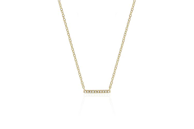 Mini Diamond Bar Necklace - Oak Hall