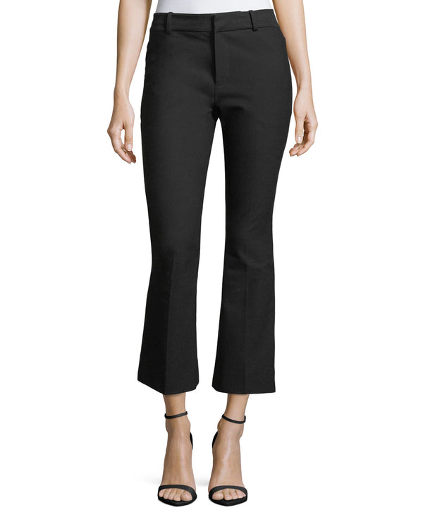 Crosby Cropped Flare Trouser - Oak Hall