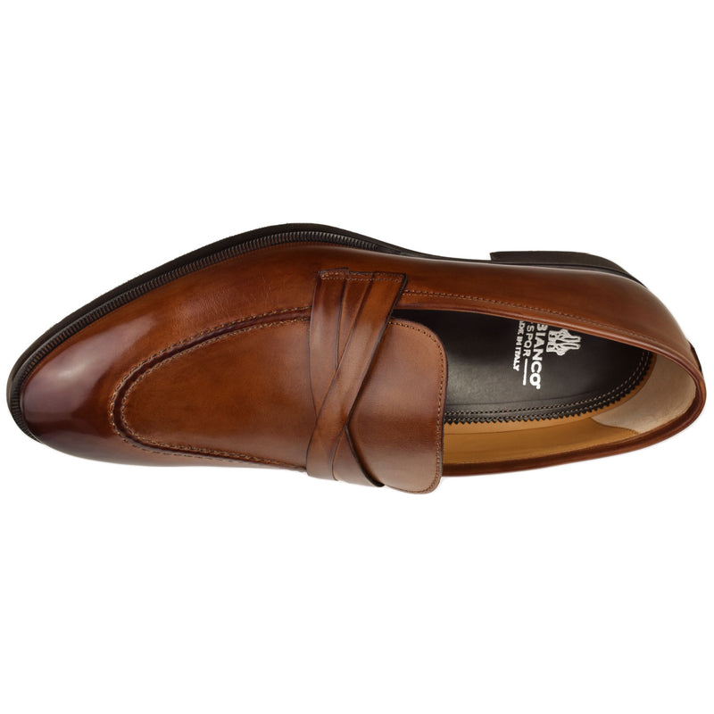 Burnished X Strap Penny Loafer - Oak Hall, Inc.