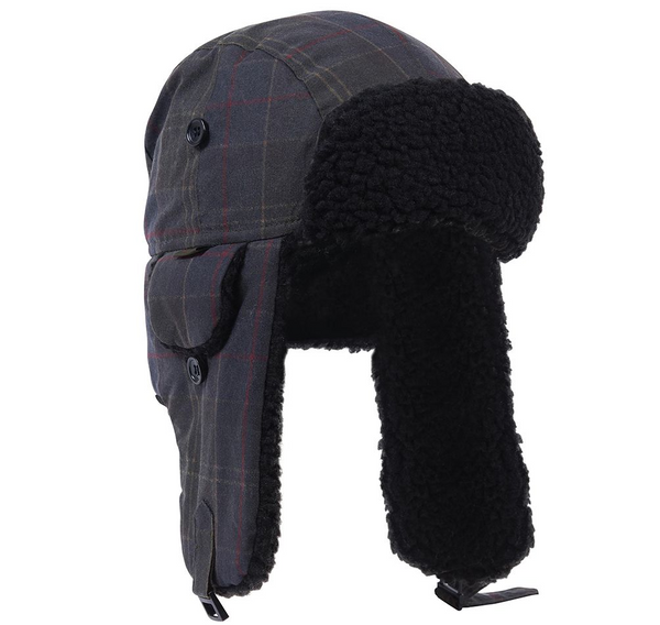 Darwen Wax Tartan Trapper Hat - Oak Hall