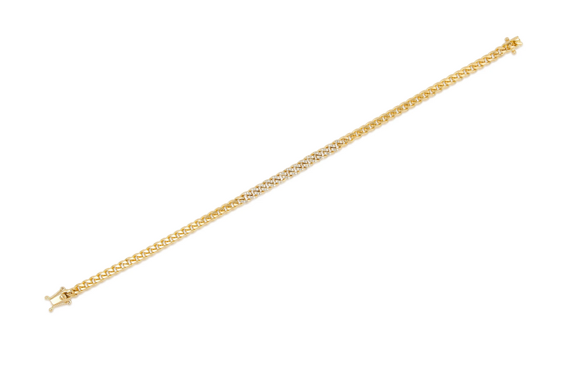Diamond Mini Curb Chain Bracelet - Oak Hall, Inc.