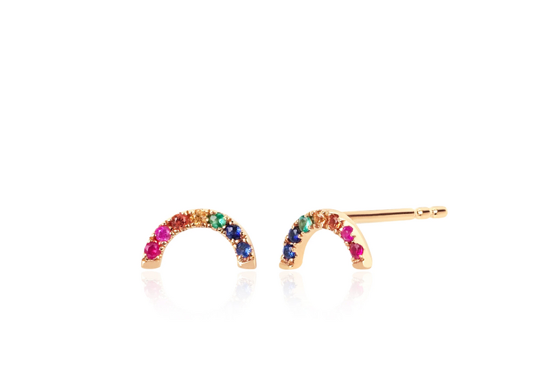 Diamond Rainbow Stud Earring - Oak Hall, Inc.