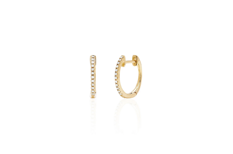 Diamond Mini Huggie Earrings - Oak Hall, Inc.