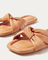 Polly Caramel Puffy Knot Sandal - Oak Hall, Inc.