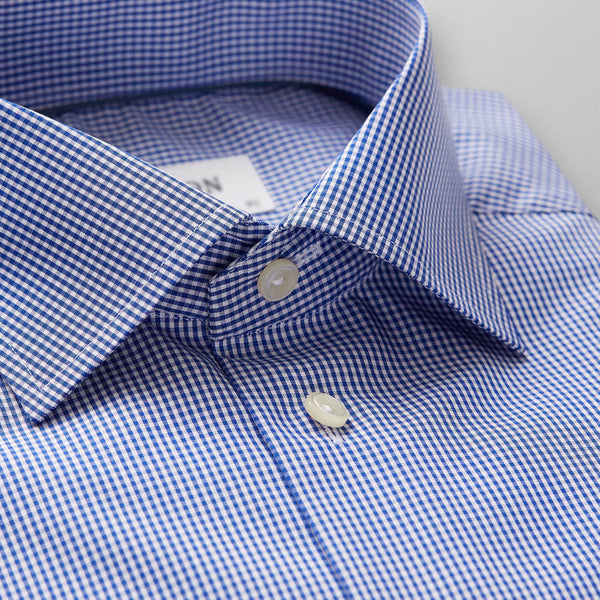 Micro Gingham Poplin Shirt - Contemporary - Oak Hall