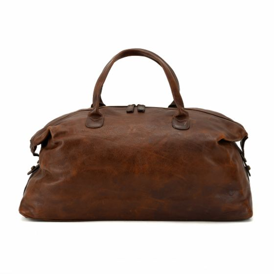 Benedict Weekend Bag - Titan Milled Brown - Oak Hall