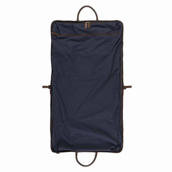 Gravely Garment Bag - Navy & Baldwin Oak - Oak Hall