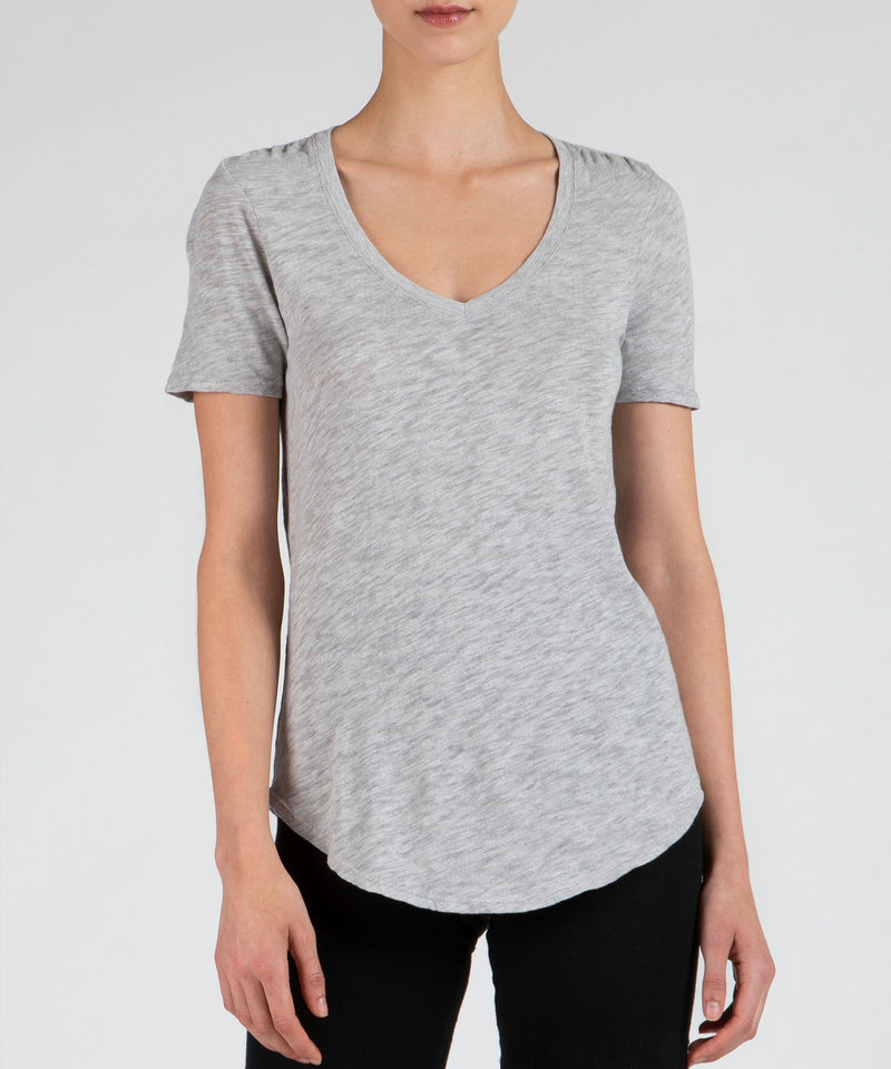 Slub Jersey Classic V-Neck Tee - Oak Hall