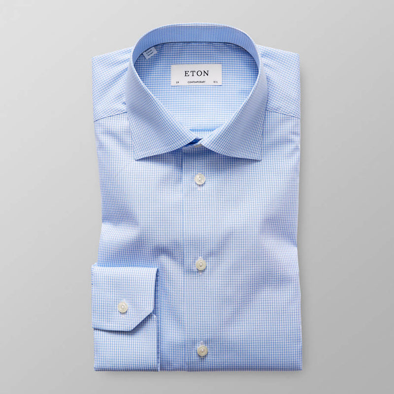 Micro Gingham Poplin Shirt - Contemporary - Oak Hall, Inc.