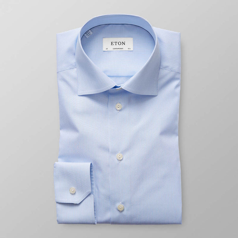Striped Poplin Shirt - Contemporary - Oak Hall