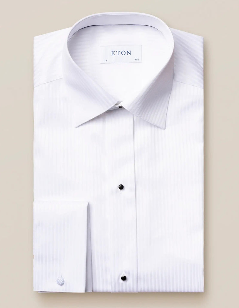 Satin Striped Evening Shirt - Contemporary - Oak Hall, Inc.