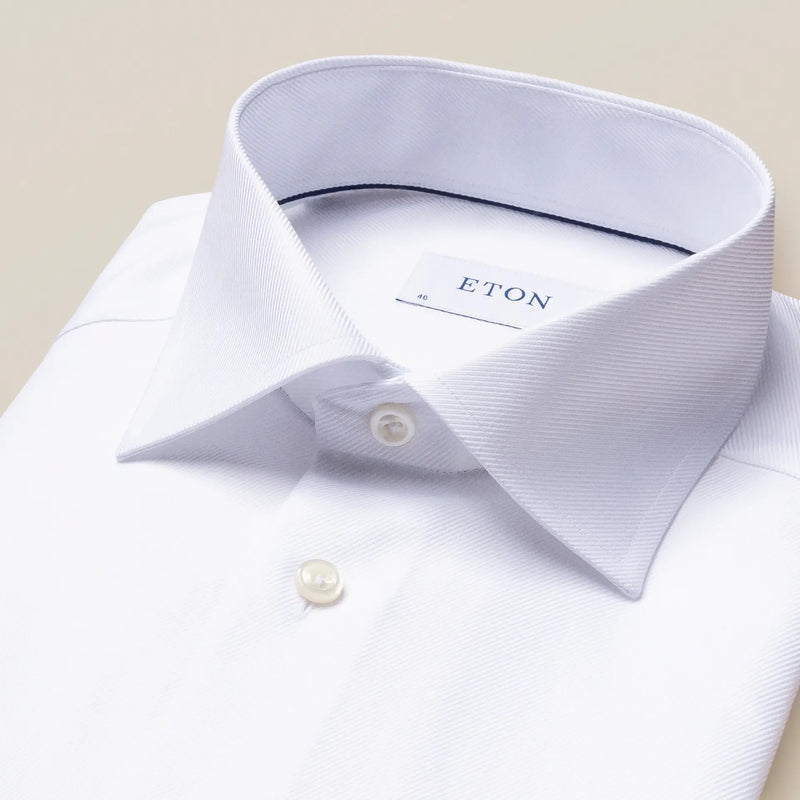 White textured twill shirt - Slim - Oak Hall
