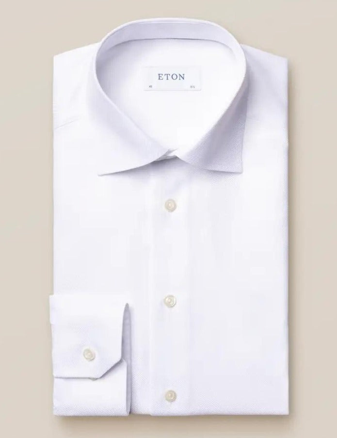 White textured twill shirt - Contemporary - Oak Hall, Inc.