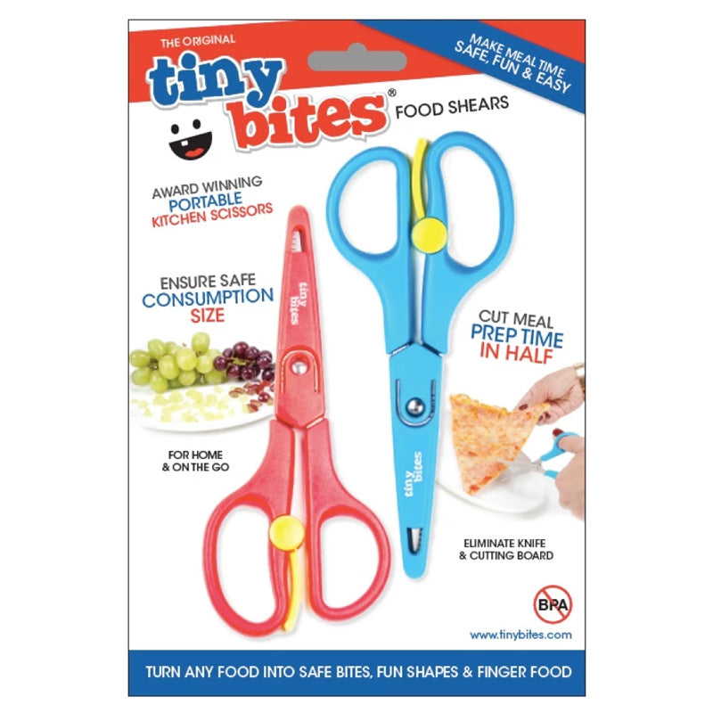 Tiny Bites Food Shears (Set Of 2) Red-Blue