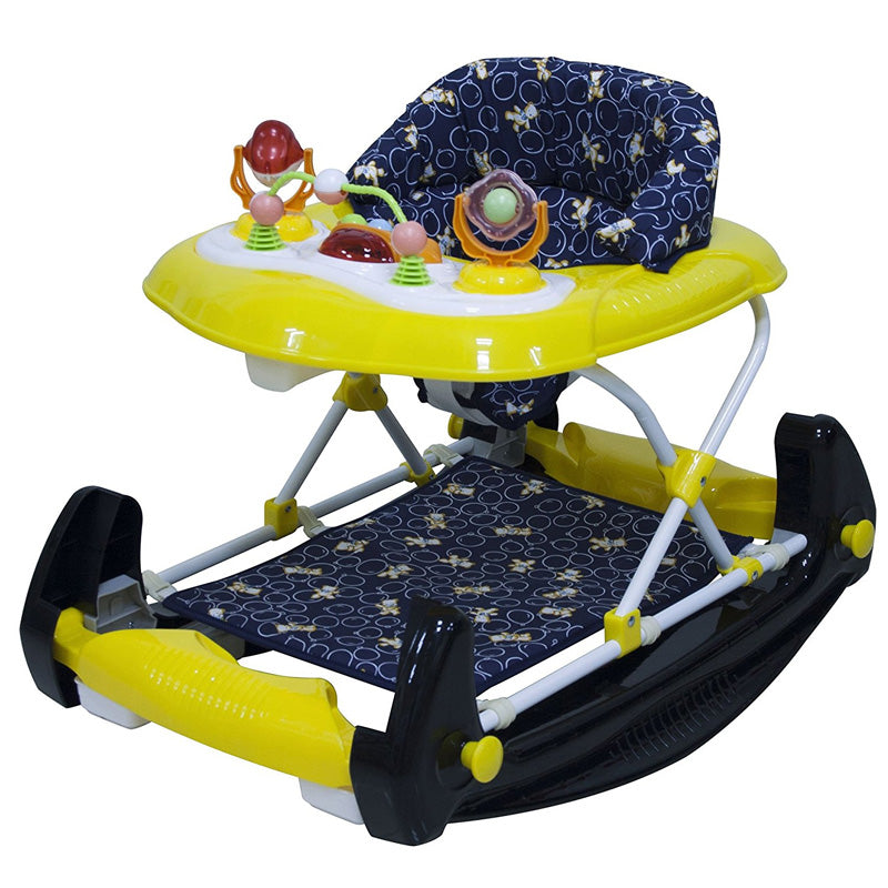 Big Oshi 2 In 1 Walker Rocker Black Yellow