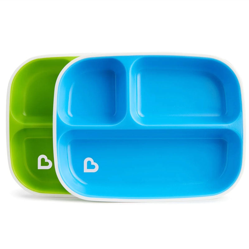 Munchkin Splash Toddler Plates Divided 2 Pack